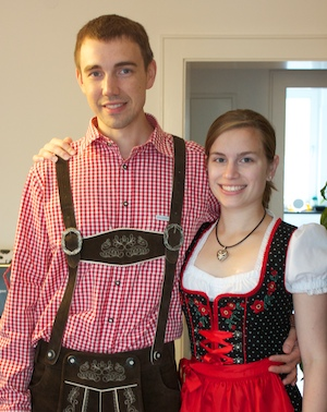 Eric and Tiffany dressed for Oktoberfest in Munich
