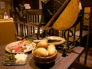 Raclette in Annecy, France